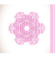 flower pink mandala vector image vector image