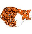 fox orange vector image vector image