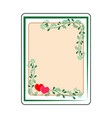 frame rectangle card vector image vector image