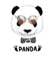 funny panda head steampunk vector image vector image