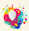 Geo location on abstract colorful spotted vector image