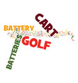 golf cart batteries proper care and maintenance vector image vector image