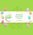 green template poster eggs vector image vector image