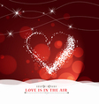 happy valentine day with heart light Background vector image vector image