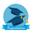 hats graduation isolated icon vector image