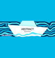 horizontal banners with a paper boat swaying in vector image vector image