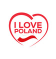 i love poland vector image