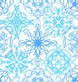 Ink hand drawn ornamental design snowflakes vector image vector image