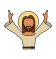 jesus christ catholic blessed spirituality vector image vector image