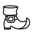 leather boot cartoon vector image vector image