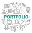 line flat circle portfolio vector image
