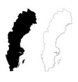 map sweden isolated black on vector image vector image