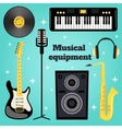Music equipment set vector image