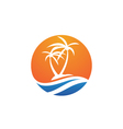 palm logo template vector image vector image
