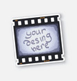 part film strip with free space vector image