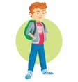 pupil boy cartoon flat vector image