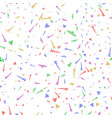seamless background with party streamers and vector image