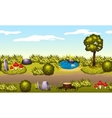 Seamless game environment Summer landscape vector image vector image
