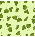 Seamless pattern with leaves of Gingko biloba vector image vector image