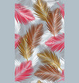 seamless pattern with tropical palms leaves vector image vector image