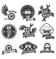 set auto service labels in vintage style vector image vector image