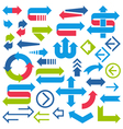 Set of arrows and signs on white background vector image vector image