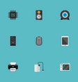 set of computer icons flat style symbols with game vector image vector image