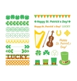 Set of Saint Patricks Day design elements vector image vector image