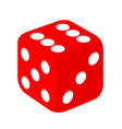 simple red casino dice vector image