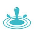 splash water drops wave nature liquid blue vector image
