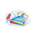 stack books and glasses vector image vector image