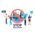 stop pollution concept for web banner vector image vector image
