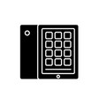 tablet and case black icon sign on vector image vector image