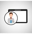 technology digital tablet news correspondent vector image