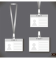 Three lanyard with Tag Badge Holder vector image