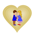 Valentines Day Cute figure hearts and children vector image