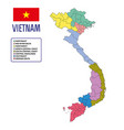vietnam map vector image