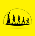 walk with jesus follow jesus graphic vector image