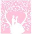 wedding cardwith groom and bride vector image vector image