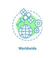 worldwide access concept icon vector image