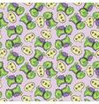 dinosaur pattern green vector image