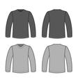 Grey Men T-shirt Long Sleeved Shirts vector image