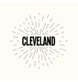 Hand drawn sunburst - cleveland vector image