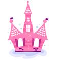 Pink princess sky Castle vector image