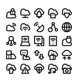 Cloud Computing Icons 2 vector image