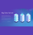 3d isometric set of big data center server vector image