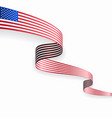 american flag wavy abstract background vector image
