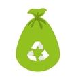 bag recycle garbage icon vector image vector image