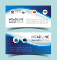 banner design set vector image