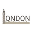 banner of london city banner of london city vector image